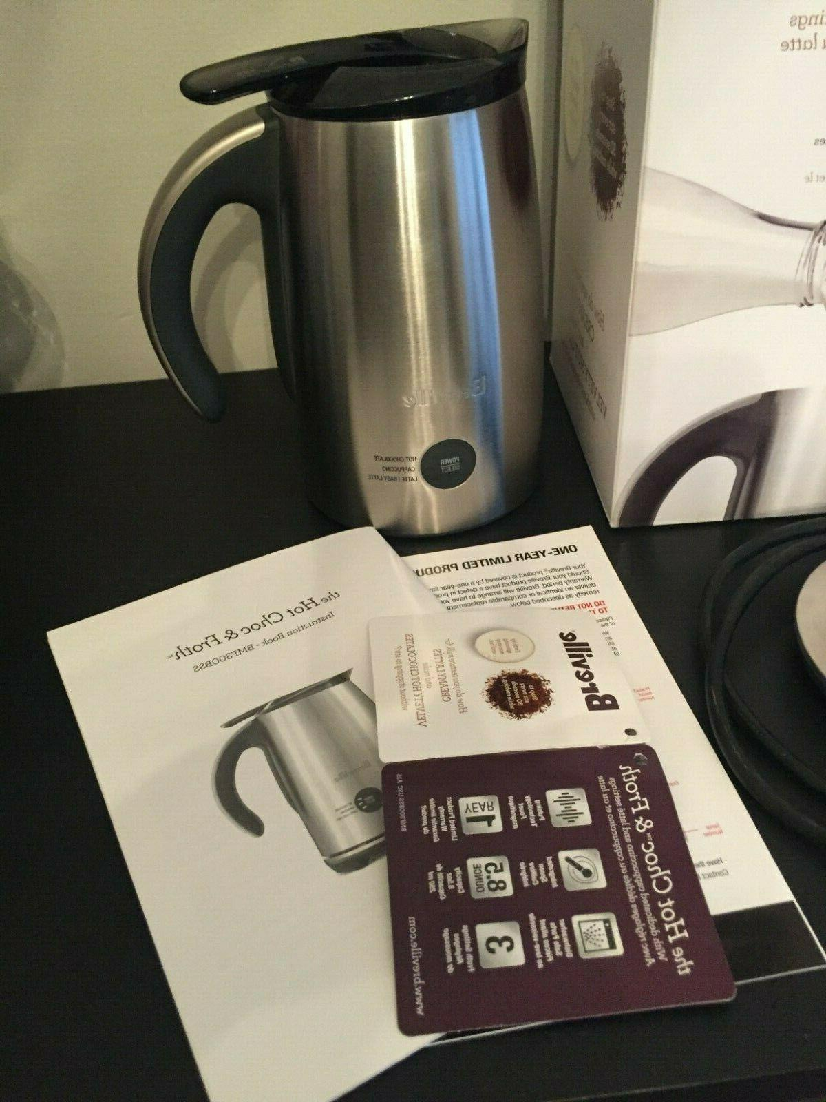 Breville Hot Milk Frother, Brushed Stainless