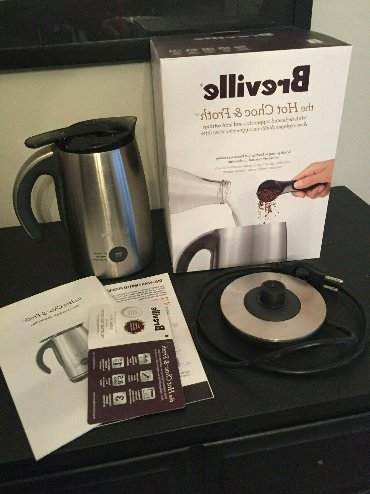 hot chocolate and milk frother brushed stainless