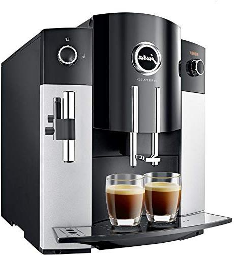 Jura Automatic Coffee Machine, Platinum Includes Care Cartridge, and Cups and
