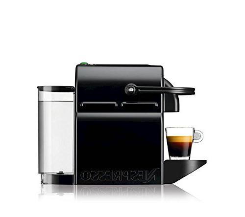 Nespresso Inissia Espresso Maker with Aeroccino Plus Frother, Black