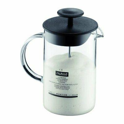 latteo milk frother with glass handle 0