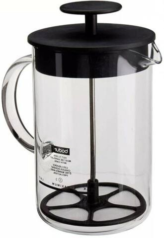 latteo milk frother with glass handle 25