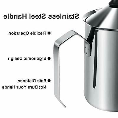 Manual Milk Pump Frother Coffee Pitcher