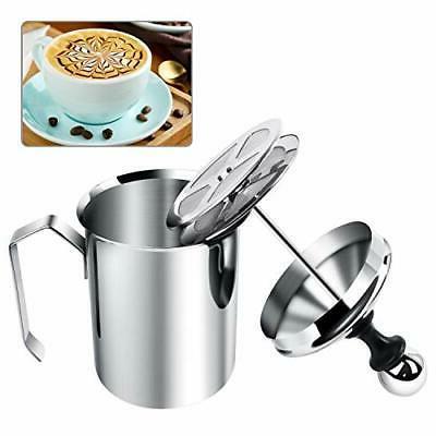 manual milk creamer hand pump frother cappuccino