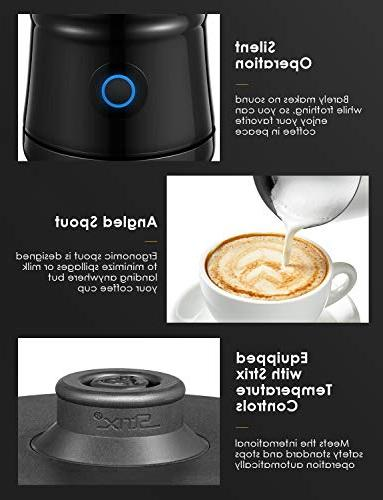 Milk Frother Wall Electric with Hot Cold Milk foam, Silent Operation, Non-Stick Milk Warmer, Latte,