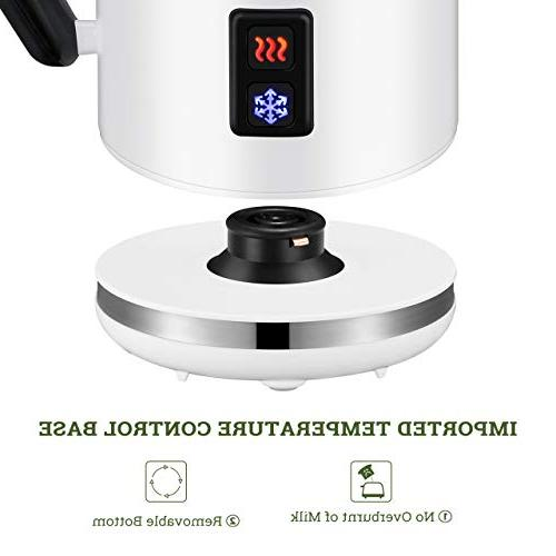 Milk Automatic Electric Foamer and Warmer Stainless Coffee Foamer Frother for and Chocolate 2