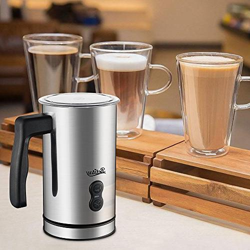 Milk Coffee Essperso Cappuccino, Stainless Milk Steamer Controller Milk and Coffee Foam Maker with Coating