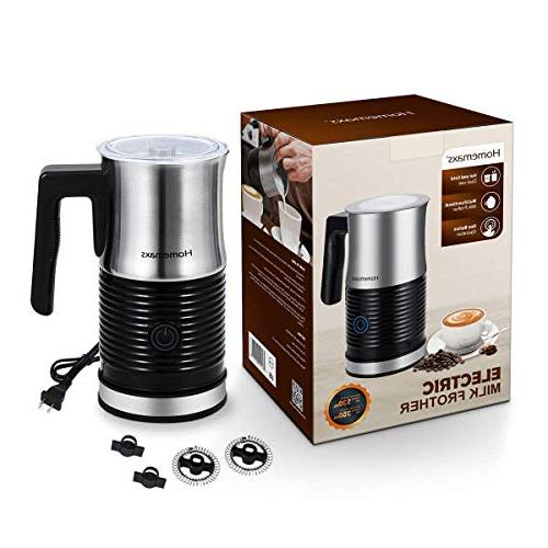 Milk Electric Milk Frother with or Function, Anti-hot Non-Stick Perfect for Hot Chocolate, Cappuccino