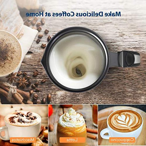 Milk Miroco Electric Milk Steamer Stainless Steel, Automatic Milk Frother Heat Froth Whisks for Latte, Chocolates, Control