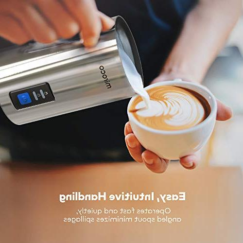 Milk Electric Milk Steamer Automatic and Milk Frother Heat Whisks for Latte, Cappuccino, Chocolates, with Control
