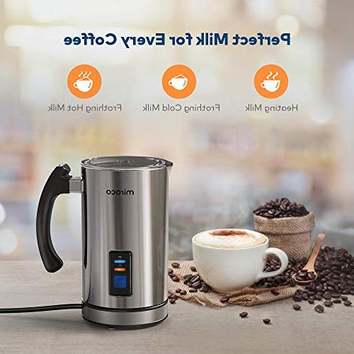 Milk Frother, Miroco Milk Automatic Milk Warmer Latte, Chocolates, Heater with Control