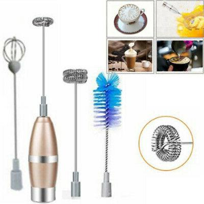 Electric Milk Frother Milk Frother Foam Maker Whisk Mixer Eg