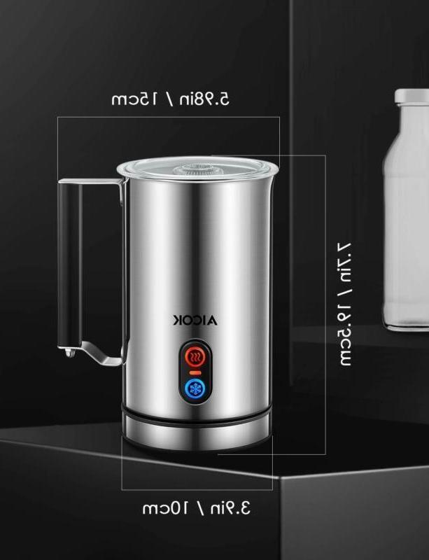 Aicok Milk Electric Foam Maker Steamer Stainless Steel for C
