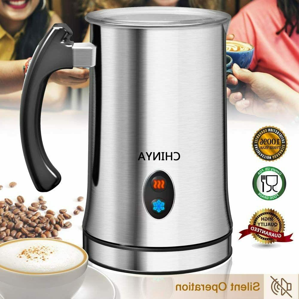 milk frother electric liquid heater hot cold