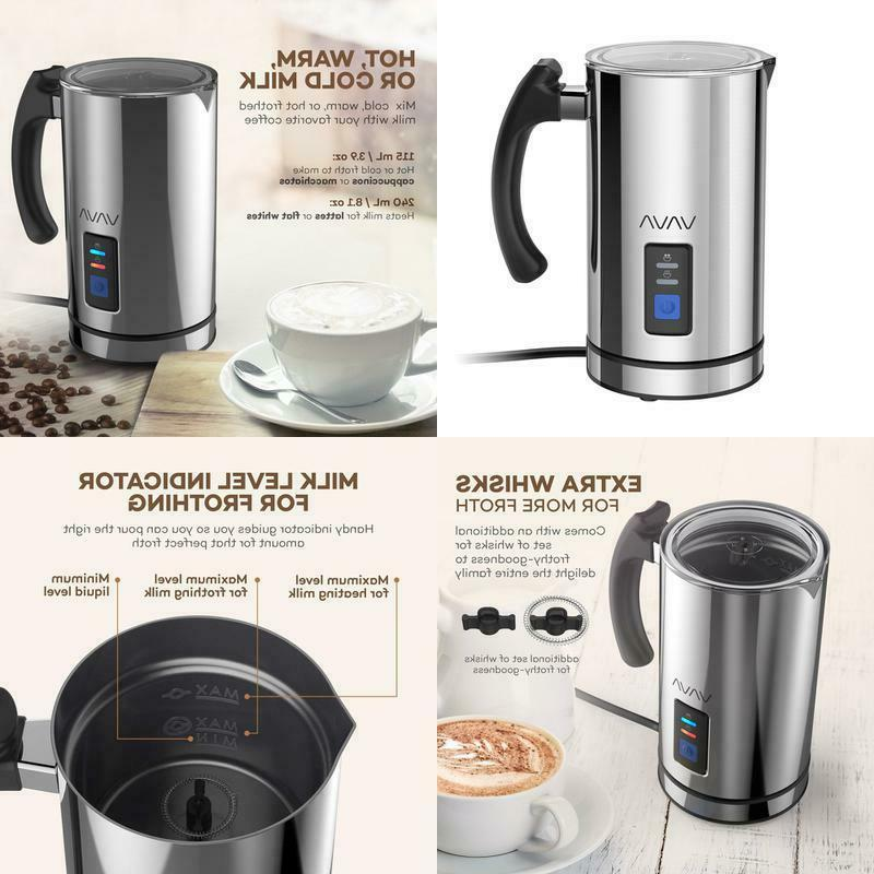 milk frother electric liquid heater with hot