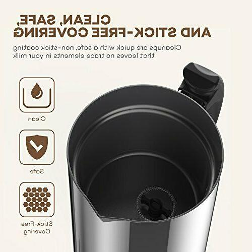 Milk Frother, VAVA Electric Steamer Hot or Cold