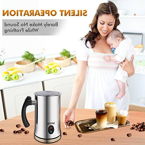 Milk Steamer or Cold Functionality, Milk Frother and Stainless Steel, for and Macchiato
