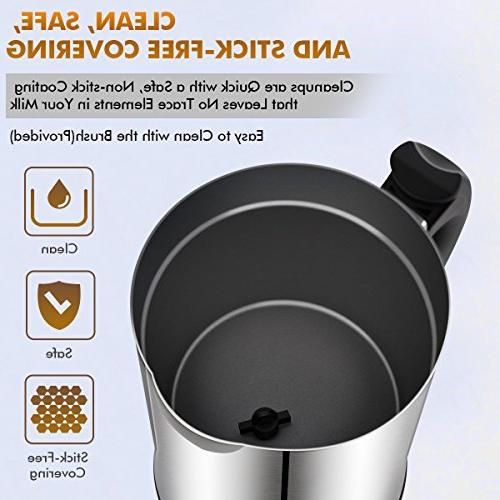 Milk Milk Steamer with Frother Stainless Steel, for Coffee, and Macchiato