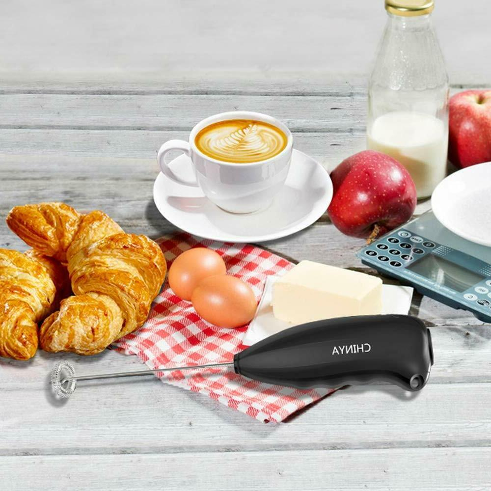 Milk Frother Handheld Operated for Coffee,
