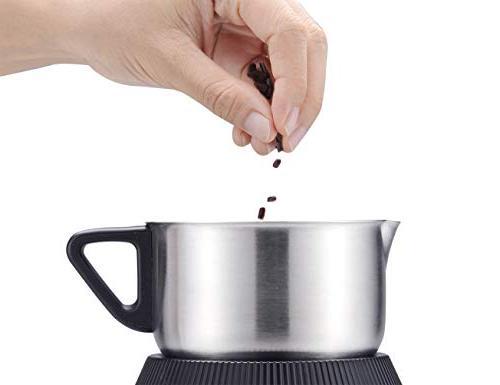 Casara Milk Frother - Electric Milk Warmer for Latte, Hot Hot Chocolate Detachable Jug- Dishwasher Safe, free