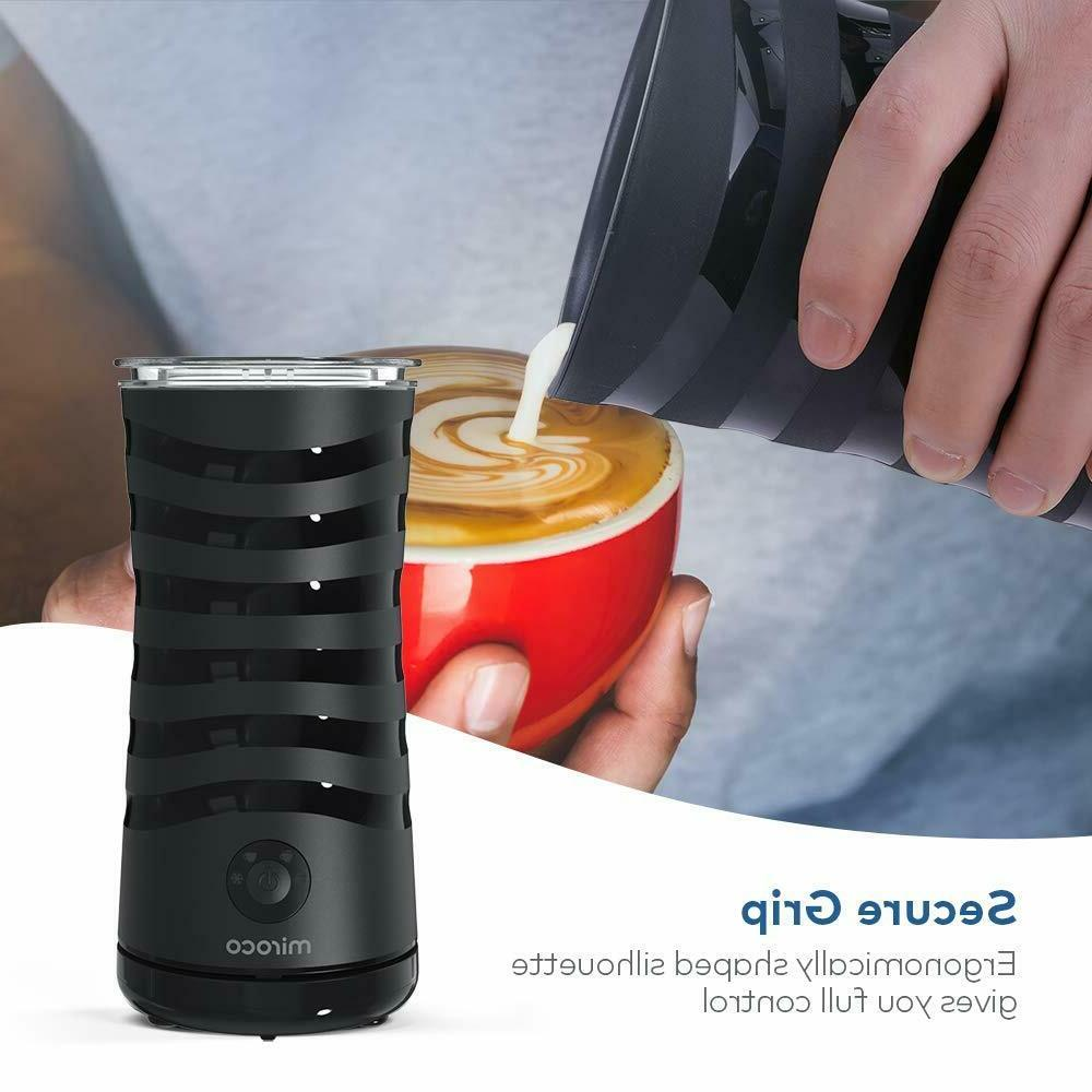 Milk Frother, Miroco Electric Milk Maker for Hot Cold