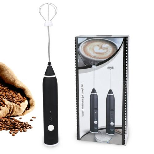 Milk Rechargeable Electric Maker Eggbeater+2 Whisk