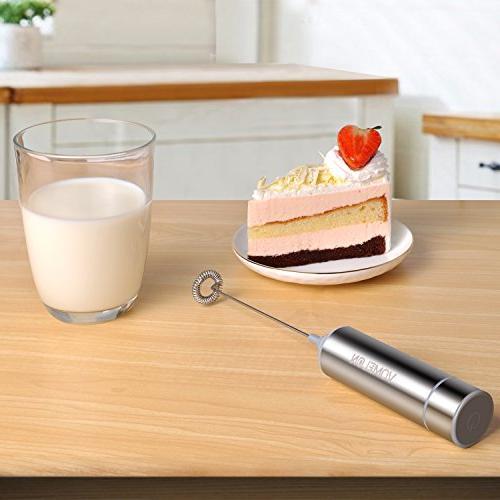 Milk Frother, Milk Handheld, 2 Steel 3 AAA Batteries