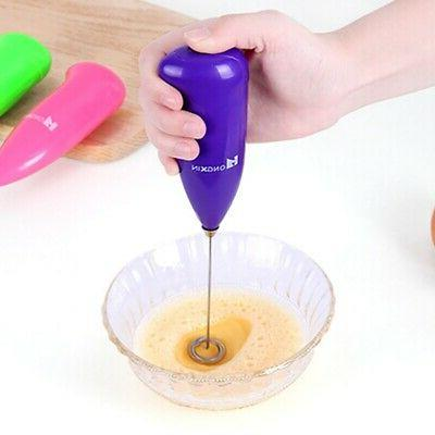 Electric Drink Foamer Mixer Stirrer Kitchen Tool