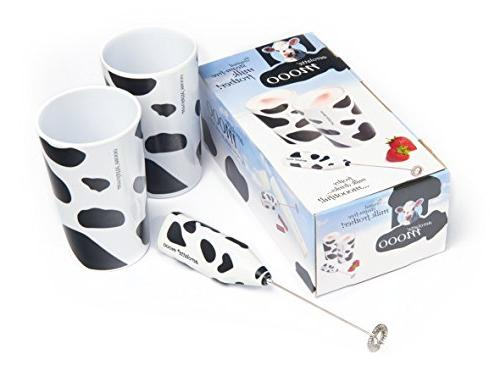 moo milk frother tumbler gift