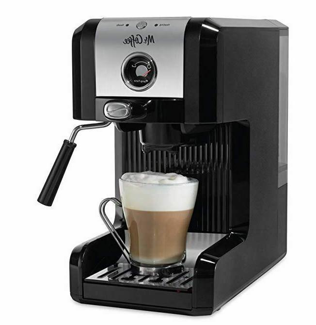 Mr. Coffee bvmc-ecmpt1000 Easy Espresso Maker, 6 Piece, Chro