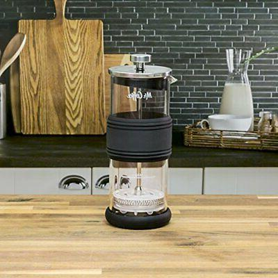 mr coffee manual milk frother glass jar
