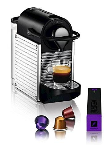 Nespresso A+C60-US-SS-NE Pixie Espresso Maker Milk Frother,
