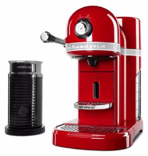 KitchenAid Nespresso Capsule Coffee Machine Red UPC: 8830493