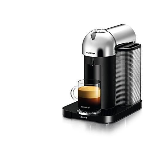 nespresso vertuo chrome espresso machine