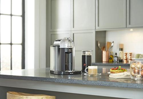 Nespresso Coffee Espresso Aeroccino Milk Frother by Breville, Chrome