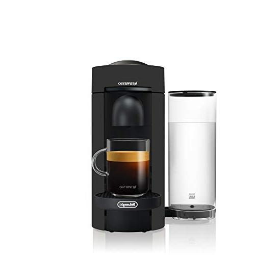 Nespresso VertuoPlus Espresso with Aeroccino Milk De'Longhi, Black Matte