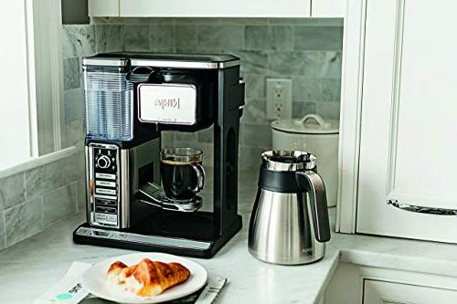 Ninja Bar Programmable Coffee 6 Sizes, Brew Options, Milk Removable Stainless Carafe