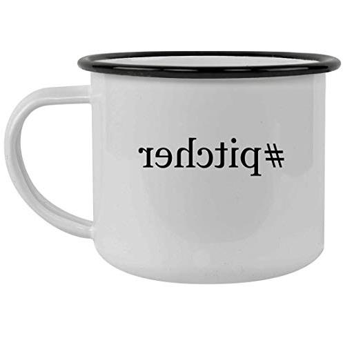 pitcher 12oz hashtag stainless steel camping mug