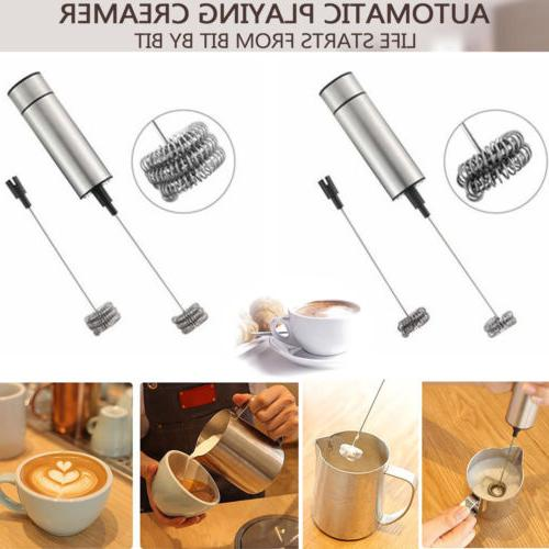 portable drink mixer and milk frother wand