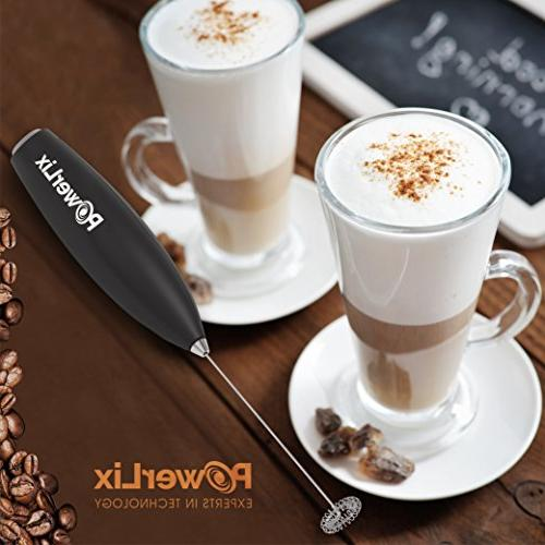 PowerLix Battery Electric Maker For Latte, Cappuccino, Hot Chocolate, Durable Drink With Steel Stainless Stand Include