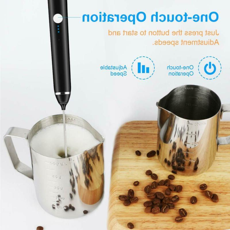 Rechargeable Milk Handheld Electric Stainless Whisk
