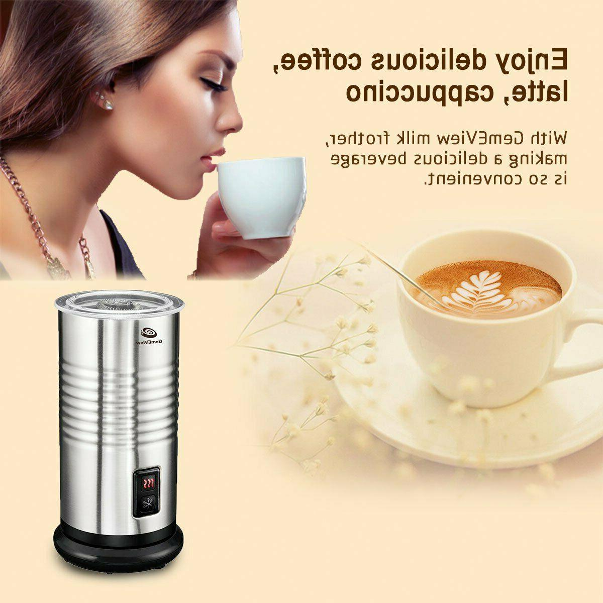 Stainless Steel Electric Milk Frother Warmer and