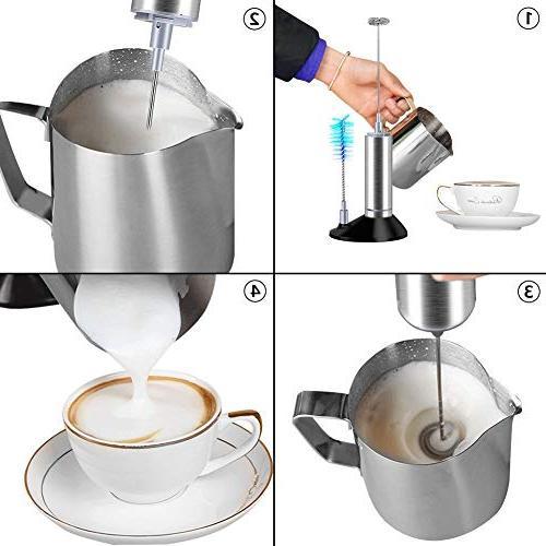 Yiwa Steel Electric Milk Frother Semi-automatic Milk Coffee