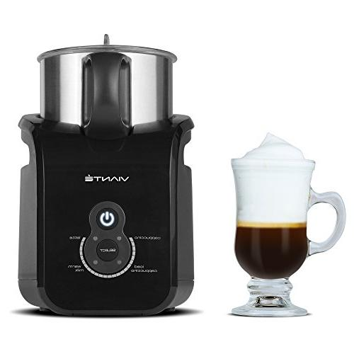 Viante Automatic Frother. 4 Cappuccinos, Lattes, and Milk. Non-Stick, Milk Convection Technology
