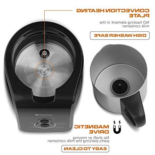 Viante Frother. 4 Pre-set Cappuccinos, Lattes, Iced and Non-Stick, Safe Milk Magnetic Convection Technology