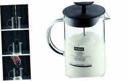 Latteo Manual Milk Frother, 8 Ounce, Black