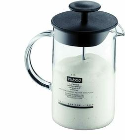 latteo manual milk frother 8 ounce black