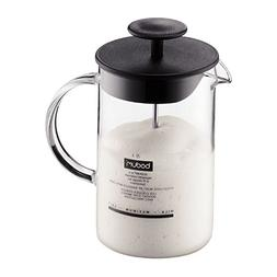 Bodum Latteo Milk Frother With Glass Handle 0.25L / 8oz Blac