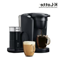 Matte Black Latte and Cappuccino Coffee Maker with Milk Frot