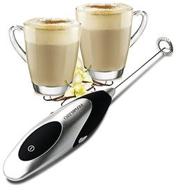 MiXPRESSO Milk Frother | Handheld Electric Latte Maker - Sil